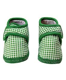 Morisons Baby Dreams Baby Booties Checks - Green