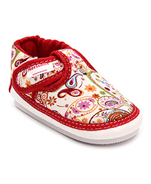 Morisons Baby Dreams Musical Check Booties - Red