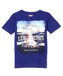 LEVIS Half Sleeves Printed T-Shirt - Blue