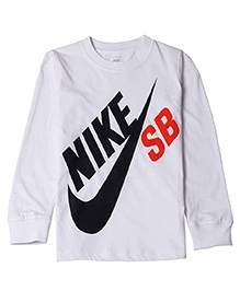 Nike Printed Full Sleeves T-Shirt - White