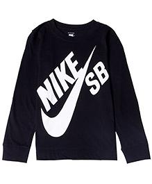 Nike Printed Full Sleeves T-Shirt - Black