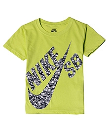 Nike Printed Round Neck T-Shirt - Lime Green