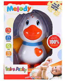 Musical Clip-On Duck Shape Baby Rattle - Multicolour
