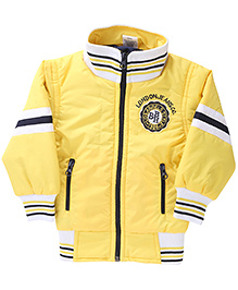 Babyhug Full Sleeves Jacket BBH Patch - Yellow