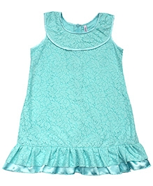 Campana Net A-Line Dress - Blue