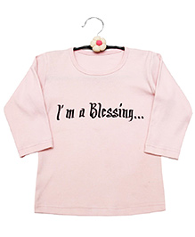 Dchica By Vani & Richa I'm A Blessing Tee - Pink