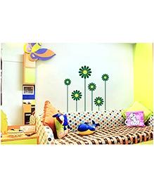 WallDesign Flower Power Petals Wall Sticker - Green & Yellow