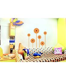 WallDesign Flower Power Petals Wall Sticker - Maroon & Orange