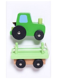 Sevi - Wooden Tractor With Trailer