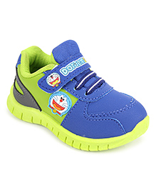 Doraemon Casual Shoes With Velcro Closure - Green Blue