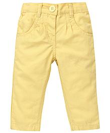 Baby League Full Length Pant - Light Yellow