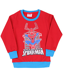 Ultimate Spiderman Printed Sweatshirt - Red