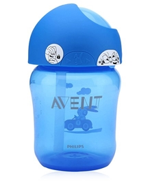 Avent Straw Cup Blue 260 ml