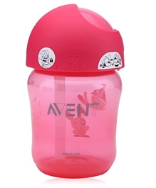Avent Straw Cup Pink 260 ml