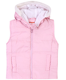 Baby League Sleeveless Hooded Jacket - Light Pink