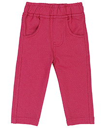 Baby League Solid Colour Jeggings - Reddish Pink