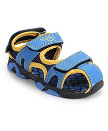 Footfun Closed Toe Floater Sandals - Blue