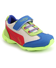 Footfun Casual Shoes With Velcro Closure - Green Blue