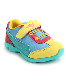 Footfun Casual Shoes With Velcro Closure - Blue Yellow