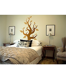 WallDesign Tree Of The Woods Wall Sticker - Copper And Gold