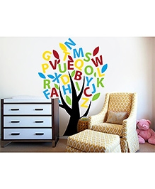WallDesign ABCD Tree Black Trunk Wall Sticker