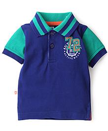 Baby League Half Sleeves Polo T-Shirt - Royal Blue