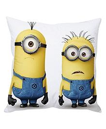 Stybuzz Minion Cushion Cover White Yellow Blue - FCC00020