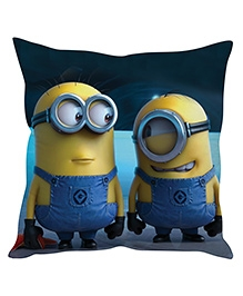 Stybuzz Minion Cushion Cover Dark Blue And Yellow - FCC00024