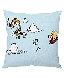 Stybuzz Tiger And Clouds Cushion Cover Light Blue - FCCS00007