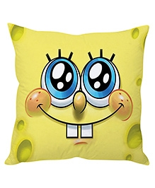Stybuzz SpongeBob Face Cartoon Cushion Cover Yellow - FCCS00015
