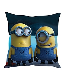 Stybuzz Minion Cushion Cover Dark Blue And Yellow - FCCS00024
