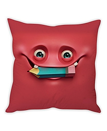 Stybuzz Cartoon Cushion Cover Dark Red - FCCS00041