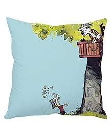 Stybuzz Tiger In Tree House Cushion Cover Light Blue - FCCS00006