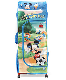 Mickey Mouse And Friends Portable Wardrobe With Wheels - Blue N Green
