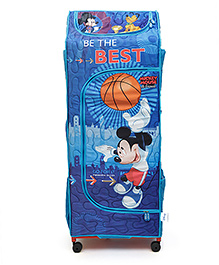 Mickey Mouse And Friends Kids Portable Wardrobe With Wheels - Blue