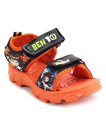 Ben 10 Sandals With Dual Velcro Closure - Orange
