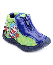 Doraemon Slip-On Casual Shoes - Green Navy