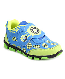 Footfun Casual Shoes With Velcro Closure - Blue Green
