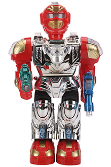 Battery Operated Super Robot Red - 25 cm