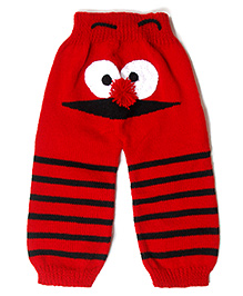 The Original Knit Funky Butts Knitted Pants - Red & Black