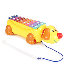Musical Pull Along Dog - Yellow