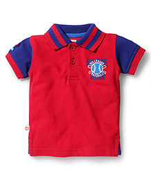Baby League Half Sleeves Polo T-Shirt - Red