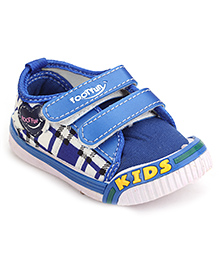 Footfun Casual Shoes With Dual Velcro Closure - Blue