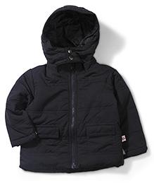 Baby League 2 Pocket Hooded Jacket - Dark Navy