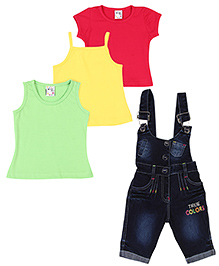 N-XT Multipiece Clothing Combo Set Pack Of 4 - Green Yellow Red Blue