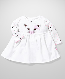 ToffyHouse Frock And Inner Polka Dot Top - Off White