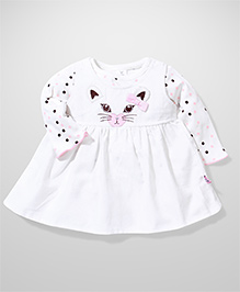 ToffyHouse Frock And Inner Polka Dot Top - White