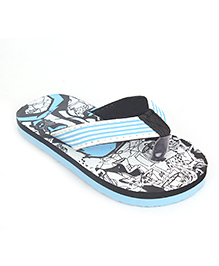 Ben 10 Printed Flip Flops - Blue Black