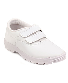 Prefect By Liberty School Shoes With Dual Velcro Closure - White