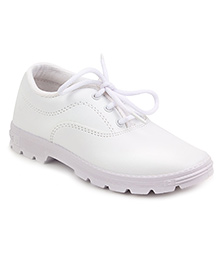 Prefect By Liberty School Shoes With Tie Up Style - White